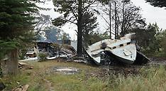 Martinborough-Fire engulfs shed and trimaran