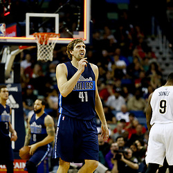 Dec 26, 2016; New Orleans, LA, USA;  Dallas Mavericks forward Dirk Nowitzki (41) against the New Orleans Pelicans during the first quarter of a game at the Smoothie King Center. Mandatory Credit: Derick E. Hingle-USA TODAY Sports