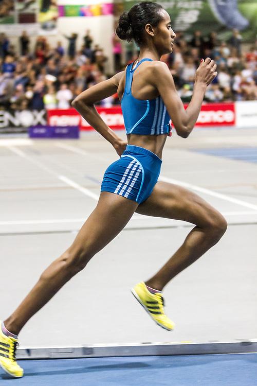 New Balance Indoor Grand Prix Track & FIeld:  women's Two Mile Buze Diriba, Ethiopia