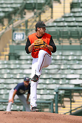 July 17, 2018 - Sarasota, FL, U.S. - Sarasota, FL - JUL 17: 2016 Baltimore Orioles first round pick Cody Sedlock (57) delivers a pitch to the plate during the Gulf Coast League (GCL) game between the GCL Twins and the GCL Orioles on July 17, 2018, at Ed Smith Stadium in Sarasota, FL. (Photo by Cliff Welch/Icon Sportswire) (Credit Image: © Cliff Welch/Icon SMI via ZUMA Press)