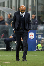 October 21, 2018 - Milan, Milan, Italy - Head coach of FC Internazionale Milano Luciano Spalletti reacts to a missed chance during the serie A match between FC Internazionale and AC Milan at Stadio Giuseppe Meazza on October 21, 2018 in Milan, Italy. (Credit Image: © Giuseppe Cottini/NurPhoto via ZUMA Press)