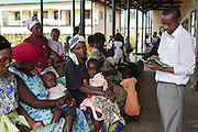 Patients line up outside the daily walk-in clinic at the Bwindi Community Hospital in Buhoma village on the edge of the Bwindi Impenetrable Forest in Western Uganda. It serves around 250,000 people from the surrounding area.