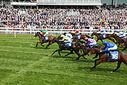 SIGNORA CABELLO (13) ridden by jockey Jason Hart and trained by John Quinn winning The Listed Langleys Solicitors British EBF Marygate Filles Stakes over 5f (£50,000) at  the York Dante Meeting at York Racecourse, York, United Kingdom on 18 May 2018. Picture by Mick Atkins.