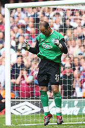 CARDIFF, WALES - SATURDAY, MAY 13th, 2006: Liverpool's goalkeeper Jose Reina celebrates after saving a penalty during the shoot-out against West Ham United after extra time during the FA Cup Final at the Millennium Stadium. (Pic by David Rawcliffe/Propaganda)