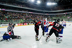 Fight during ice-hockey match between Slovenia and Japan at IIHF World Championship DIV. I Group A Slovenia 2012, on April 16, 2012 in Arena Stozice, Ljubljana, Slovenia. Slovenia defeated Japan 4-2. (Photo by Vid Ponikvar / Sportida.com)