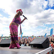 London, UK, 21th August 2016 : Linzy Bacbotte  prefroms live at the Mauritian Open Air Festival 2016 at Gunnersbury Park in London,UK. © See Li/PictureCapital