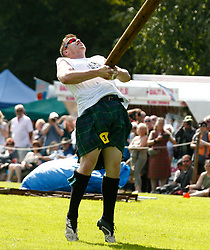 The Caber World Championship was once again held at Inveraray Highland Games.The winner Lorne Colthart, the first Scot to win this Chanpionship since 2002 seen here in action..... (c) Stephen Lawson | Edinburgh Elite media
