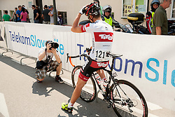 Urban Urbanc and Jure Golcer during Stage 4 from Brezice to Novo mesto (155,8 km) of cycling race 20th Tour de Slovenie 2013,  on June 16, 2013 in Slovenia. (Photo By Vid Ponikvar / Sportida)