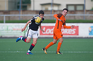 Dundee's Callum Moore and Dundee United's Logan Chalmers  - Dundee under 20s v Dundee United in the SPFL Development League at Links Park, Montrose<br /> <br />  - &copy; David Young - www.davidyoungphoto.co.uk - email: davidyoungphoto@gmail.com