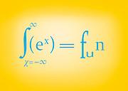 Famous humourous quotes series: Sex equals fun mathematics symbols