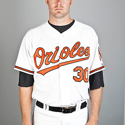 Feb 22, 2013; Sarasota, FL, USA; Baltimore Orioles starting pitcher Chris Tillman (30)at the Orioles clubhouse. Mandatory Credit: Derick E. Hingle-USA TODAY Sports