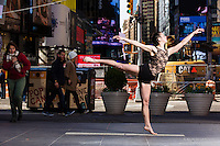Times Square New York City- Dance As Art Photography Project with dancer Darielle Loprete