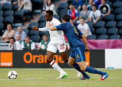 Danny Welbeck and Adil Rami during the 1-1 draw in the Group D Match Against France AT The Euro 2012 Football Championships in Donetsk, Ukraine, June 11 2012. Photo By Imago/i-Images