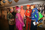 David Humphries, Zandra Rhodes, Andre Bartenev. Andrew Logan and Irena Zhivago. i-Dentity opening. Celebrating 25 years of i-D. Fashion and Textile magazine. Ber5mondsey St. London. SE1. 13 October  2005. ONE TIME USE ONLY - DO NOT ARCHIVE © Copyright Photograph by Dafydd Jones 66 Stockwell Park Rd. London SW9 0DA Tel 020 7733 0108 www.dafjones.com