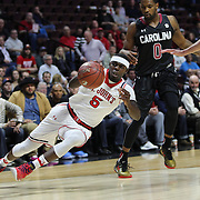 Durand Johnson, St. John's, is fouled as he drives to the basket during the St. John's vs South Carolina Men's College Basketball game in the Hall of Fame Shootout Tournament at Mohegan Sun Arena, Uncasville, Connecticut, USA. 22nd December 2015. Photo Tim Clayton