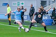 Manchester City Women forward Lauren Hemp (15) during the FA Women's Super League match between Manchester City Women and BIrmingham City Women at the Sport City Academy Stadium, Manchester, United Kingdom on 12 October 2019.