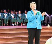 Houston Mayor Annise Parker speaks at the dedication of Atherton Elementary on Friday, Sept. 6.
