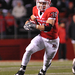 Oct 16, 2009; Piscataway, NJ, USA; Rutgers running back Joe Martinek (38) runs during second half NCAA football action in Pittsburgh's 24-17 victory over Rutgers at Rutgers Stadium.