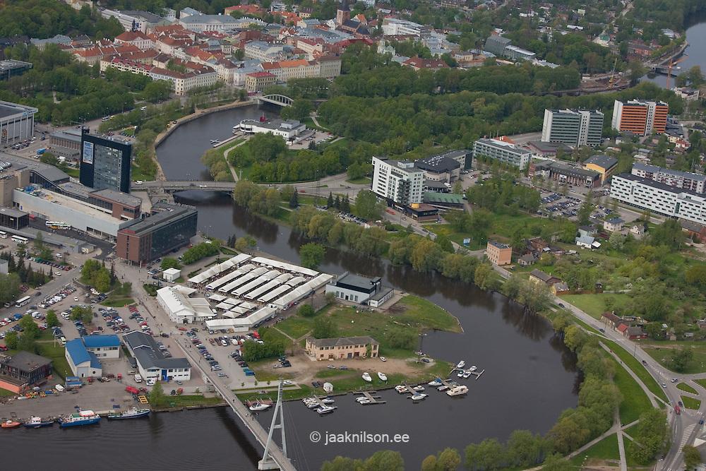 Aerial View of Tartu, Estonia