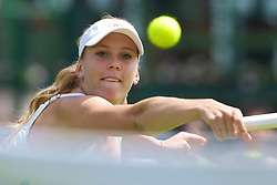 LONDON, ENGLAND - Monday, June 23, 2008: Nicole Vaidisova (CZE) in action during her first round match on day one of the Wimbledon Lawn Tennis Championships at the All England Lawn Tennis and Croquet Club. (Photo by David Rawcliffe/Propaganda)