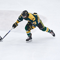 1st year forward, Arthur Miller (23) of the Regina Cougars during the Men's Hockey Home Game on Fri Oct 12 at Co-operators Center. Credit: Arthur Ward/Arthur Images