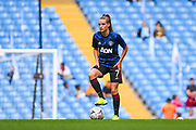 Manchester United Women forward Ella Toone (7) warming up during the FA Women's Super League match between Manchester City Women and Manchester United Women at the Sport City Academy Stadium, Manchester, United Kingdom on 7 September 2019.