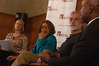 """The Institute of Politics hosted a panel discussion Thursday evening at the Quadrangle Club located at 1155 E. 57th Street. The topic of discussion was current events in Chicago following the release of the Laquan McDonald video.<br /> <br /> 4866 – Moderator, Kate Grossman with panelists, Sun Times Columnist, Mary Mitchell, Writer, human rights activist and founder of the Invisible Institute, Jamie Kalven and retired Saint Louis Chief of Police, Daniel.<br /> <br /> Please 'Like' """"Spencer Bibbs Photography"""" on Facebook.<br /> <br /> All rights to this photo are owned by Spencer Bibbs of Spencer Bibbs Photography and may only be used in any way shape or form, whole or in part with written permission by the owner of the photo, Spencer Bibbs.<br /> <br /> For all of your photography needs, please contact Spencer Bibbs at 773-895-4744. I can also be reached in the following ways:<br /> <br /> Website – www.spbdigitalconcepts.photoshelter.com<br /> <br /> Text - Text """"Spencer Bibbs"""" to 72727<br /> <br /> Email – spencerbibbsphotography@yahoo.com"""