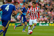 Stoke City's Bojan Krkic controls the ball during the Barclays Premier League match between Stoke City and Leicester City at the Britannia Stadium, Stoke-on-Trent, England on 19 September 2015. Photo by Aaron Lupton.