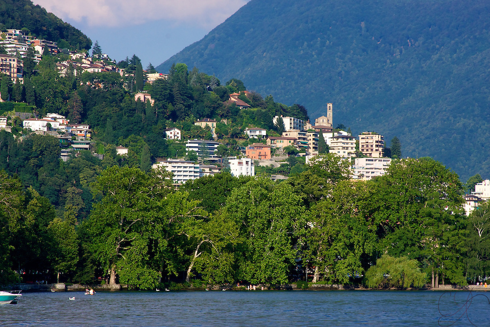 Staking out a commanding view from home on Lago Lugano