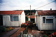 The Newport prefabs estate, 2003. Most of the 750 prefabs have gone and been replaced with new bungalows as they had reached the end of their lives.