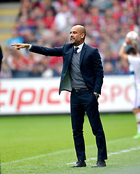 Football: Germany, 1. Bundesliga, SC Freiburg - FC Bayern Muenchen, Freiburg - 16.05.2015,<br /> Trainer Pep Guardiola (Bayern)<br /> <br /> &copy; pixathlon<br /> <br /> +++ NED out !!! +++