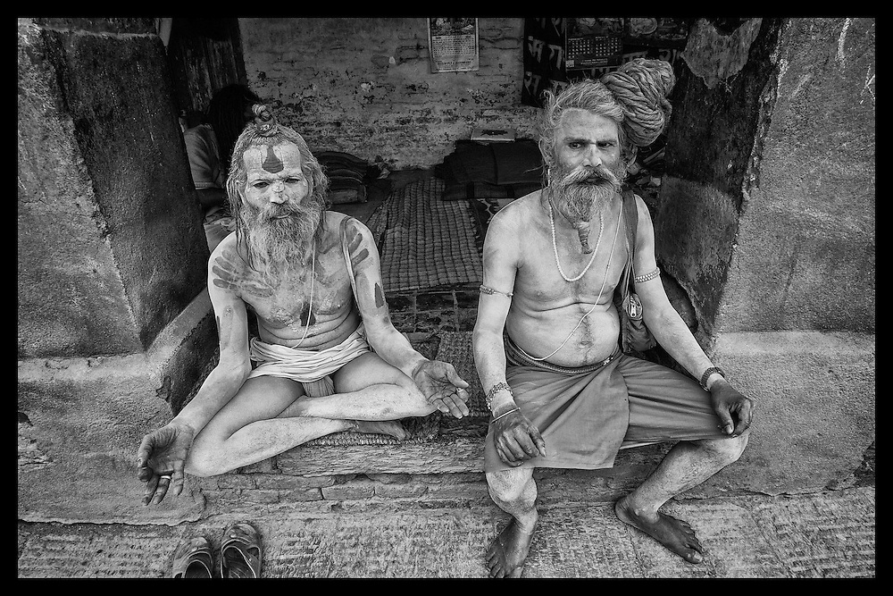 Katmandu Sadhu's gather at a shrine.