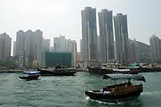 View of Aberdeen in Hong Kong island