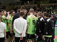HÅNDBOLD: Nordsjælland time-out under kampen i 888-Ligaen mellem Nordsjælland Håndbold og KIF Kolding København den 5. februar 2018 i Helsingør Hallen. Foto: Claus Birch.