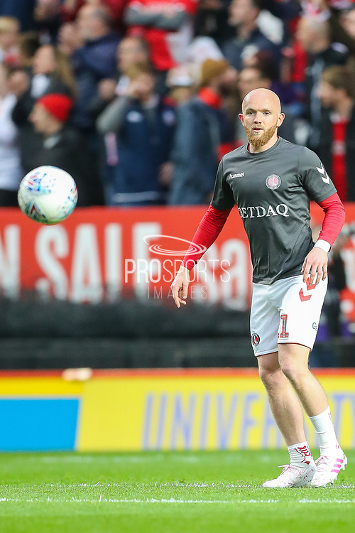 Charlton Athletic midfielder Jonathan Williams (21) during the EFL Sky Bet League 1 second leg Play-Off match between Charlton Athletic and Doncaster Rovers at The Valley, London, England on 17 May 2019.