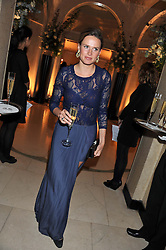 FRANCESCA CUMANI at a dinner and dance hosted by Leon Max for the charity Too Many Women in support of Breakthrough Breast Cancer held at Claridges, Brook Street, London on 1st December 2011.