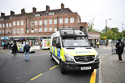 &copy; Licensed to London News Pictures. 02/05/2018. London, UK. The scene outside Queensbury tube station on  Cumberland Road <br />