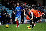 Peterborough United midfielder Marcus Maddison (11) striding forward during the EFL Sky Bet League 1 match between Peterborough United and Southend United at London Road, Peterborough, England on 3 February 2018. Picture by Nigel Cole.