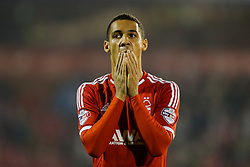 Thomas Ince of Nottingham Forest looks on before the match - Photo mandatory by-line: Rogan Thomson/JMP - 07966 386802 - 05/11/2014 - SPORT - FOOTBALL - Nottingham, England - City Ground - Nottingham Forest v Brentford - Sky Bet Championship.