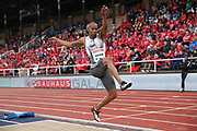 Zarck Visser (RSA) places eighth in the long jump at 25-6 (7.77m)during the Bauhaus-Galan in a IAAF Diamond League meet at Stockholm Stadium in Stockholm, Sweden on Thursday, May 30, 2019. (Jiro Mochizuki/Image of Sport)