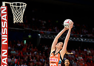 SYDNEY, AUSTRALIA - AUGUST 24: Caitlin Bassett of the Giants catches the ball during the round 14 Super Netball match between the Giants and the West Coast Fever at Qudos Bank Arena on August 24, 2019 in Sydney, Australia.(Photo by Speed Media/Icon Sportswire)