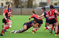 Rownita Marston of Bristol Bears Women tackles Millie Wood of Gloucester-Hartpury Women - Mandatory by-line: Paul Knight 12/2019 - RUGBY - Shaftesbury Park - Bristol, England - Bristol Bears Women v Gloucester-Hartpury Women - Tyrrells Premier 15s