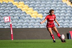 Lucy Attwood of Bristol Ladies  kicks at goal - Mandatory by-line: Craig Thomas/JMP - 23/09/2017 - RUGBY - Sixways Stadium - Worcester, England - Worcester Valkyries v Bristol Ladies - Tyrrells Premier 15s