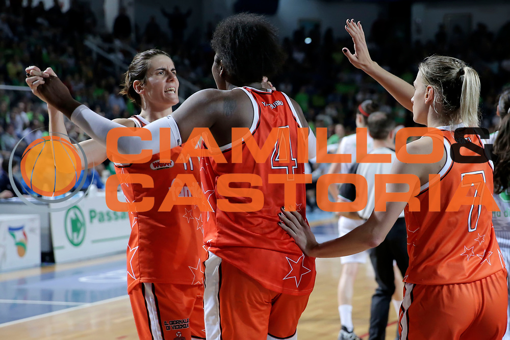DESCRIZIONE : Ragusa Lega Basket Femminile A1 2014-15 Finale scudetto gara 4 Passalacqua Ragusa Famila Wuber Schio<br /> GIOCATORE : Raffaella Masciadri Isabelle Yacoubou<br /> SQUADRA : Famila Wuber Schio<br /> EVENTO : Lega Basket Femminile Finale scudetto gara 4<br /> GARA : Passalacqua Ragusa Famila Wuber Schio<br /> DATA : 01/05/2015<br /> CATEGORIA : <br /> SPORT : Pallacanestro <br /> AUTORE : Agenzia Ciamillo-Castoria/ElioCastoria<br /> Galleria : Lega Basket Femminile 2014-2015 <br /> Fotonotizia : Ragusa Lega Basket Femminile A1 2014-15 Finale scudetto gara 4 Passalacqua Ragusa Famila Wuber Schio<br /> Predefinita :