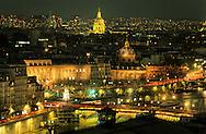 France. Paris. elevated view.Paris cityscape view from Saint jacques tower.