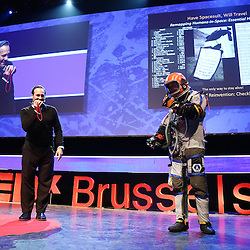 Session III - Back to the Future - 01 December 2014<br /> <br /> Cameron Smith | Have Space Suit - Will Travel<br /> <br /> TEDX BRUSSELS 2014 - The Territory and the MAP -  Belgium - Brussels - October 2014 &copy; TEDx Brussels/Scorpix
