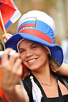 GEPA-2606087307 - WIEN,AUSTRIA,26.JUN.08 - FUSSBALL - UEFA Europameisterschaft, EURO 2008, Host City Fan Zone, Fanmeile, Fan Meile, Public Viewing. Bild zeigt einen Russland-Fan.<br />Foto: GEPA pictures/ Reinhard Mueller