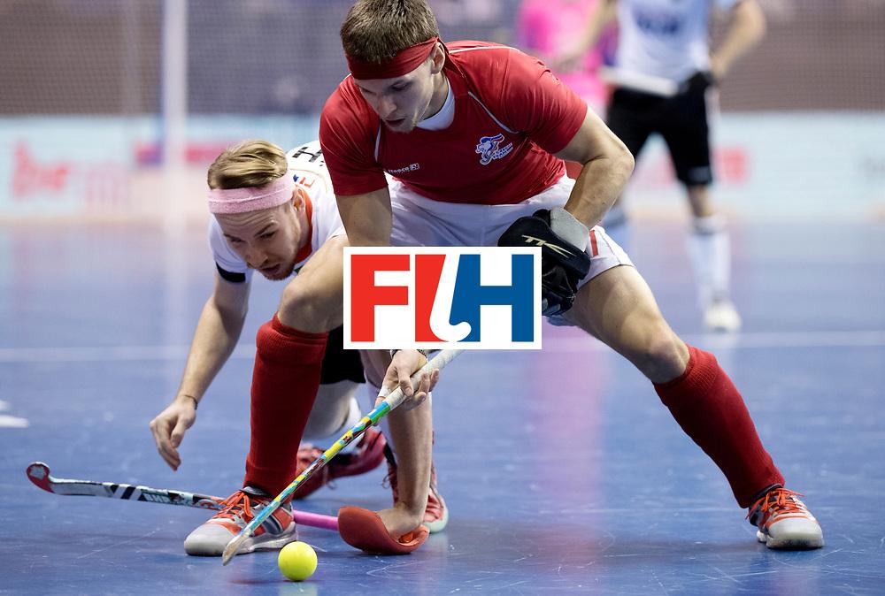 BERLIN - Indoor Hockey World Cup<br /> Women: Czech Republic - Germany <br /> foto: Christopher R&uuml;hr and PLOCH&Yacute; Lukas.<br /> WORLDSPORTPICS COPYRIGHT FRANK UIJLENBROEK