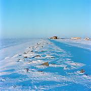 2010. Shishmaref sea wall.