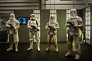 UNITED KINGDOM, London: 25 May 2018  Cosplay fans dressed as Storm Troopers pose for a picture at the MCM London Comic-Con this afternoon. The three day comic convention, which is held at London's ExCeL, will see thousands of visitors many of them in cosplay, dressed as their favourite super hero, villain or comic book character. Rick Findler  / Story Picture Agency